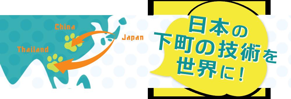 日本の下町の技術を世界に!